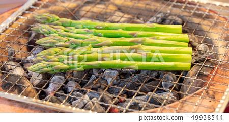 아스파라거스 숯불 구이 (숯불 구이 · 구이 · 화로 · 하나 · 宅飲み 바베큐 BBQ 불고기 쇠고기 49938544
