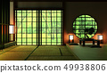 Japan Room Design Japanese-style. 3D rendering  49938806