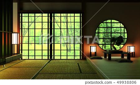 Japan Room Design Japanese-style. 3D rendering  49938806