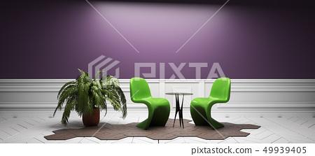 empty room interior design. 3D rendering 49939405