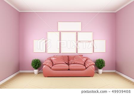 Pink room -Beautiful room, Empty room 49939408