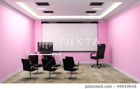 Empty white Conference room interior 49939648