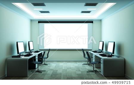 computer business - beautiful boardroom  49939715