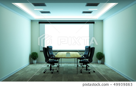 computer business - beautiful boardroom 49939863