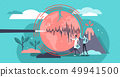 Volcano earthquake geology concept illustration 49941500