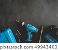 top view of Construction tools concept. 49943403