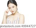 女性肖像面部表情 49944727