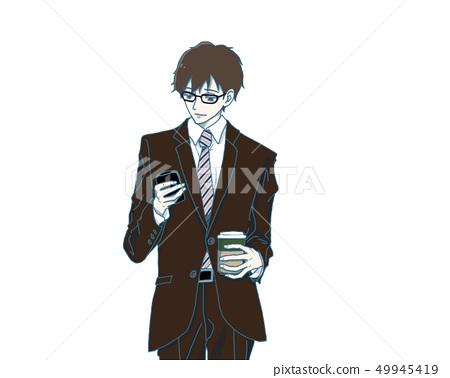 Business man taking a break (glasses) 49945419