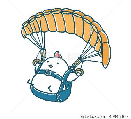 鬆散的鳥類滑翔傘 49946360