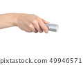 Woman hand holding a flashlight 49946571