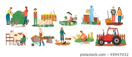 Farming People, Harvesting Seasonal Activity Set 49947032