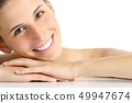 Beauty woman portrait with a perfect white smile 49947674