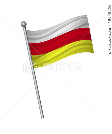 waving of flag on flagpole, Official colors and 49949659