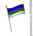 waving of flag on flagpole, Official colors and 49949848