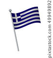 waving of flag on flagpole, Official colors and 49949892