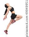 Fitness woman profile dancing doing aerobic 49949951