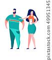 Couple Taking Selfie Cartoon Vector Illustration 49951345