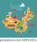 Map of China vector illustration, design element. 49953061