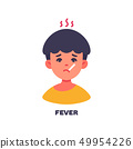 Boy has a fever icon avatar illustration 49954226