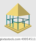 Garden pavilions and garden furniture icon . Landscape design elements in flat style, isolated on 49954511