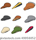 vector set of bicycle saddle 49956052