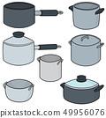 vector set of pot 49956076