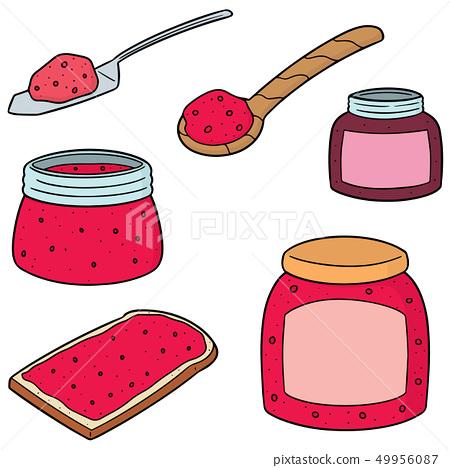 vector set of jam 49956087