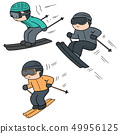 vector set of skiing 49956125