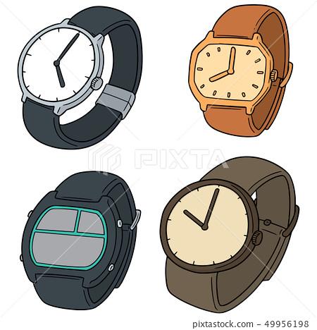 vector set of watch 49956198