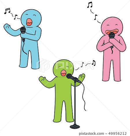 vector set of singer 49956212
