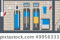 Water Treatment System Flat Vector Illustration 49956333