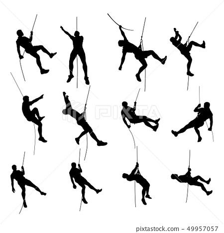 climber set silhouette 01 49957057