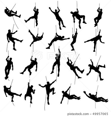 climber set silhouette 2 49957065