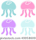 Jellyfish without outline 49958609