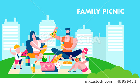 Perfect Family Picnic Fun Vector Banner Template 49959431