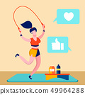 Sport Blog, Fitness Online Channel Illustration 49964288