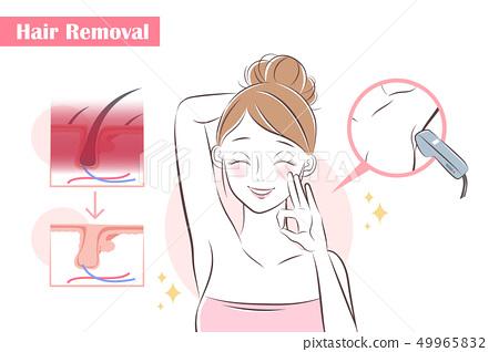 woman remove hair 49965832