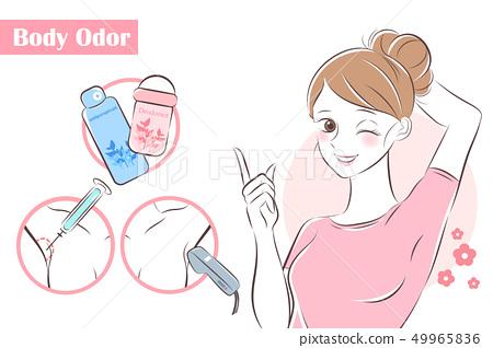 woman with body odor problem 49965836