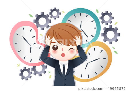 businessman busy with time 49965872