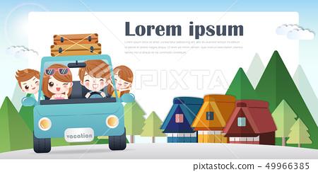 cute cartoon happy family 49966385