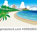하와이 해변 49966860
