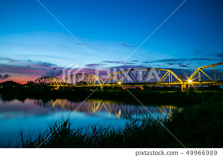 아시아 대만 가오슝 다리, 대슈 오래 된 철 다리 공원, 가오슝, 대만 49966989
