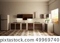 kitchen room interior with Kitchen counter 49969740