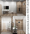 Bathroom wooden tile and granite tile design 49971828