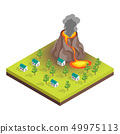 Nature Disaster Concept 3d Isometric View. Vector 49975113