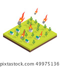 Nature Disaster Concept 3d Isometric View. Vector 49975136