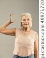 mirror, female, elderly 49975720