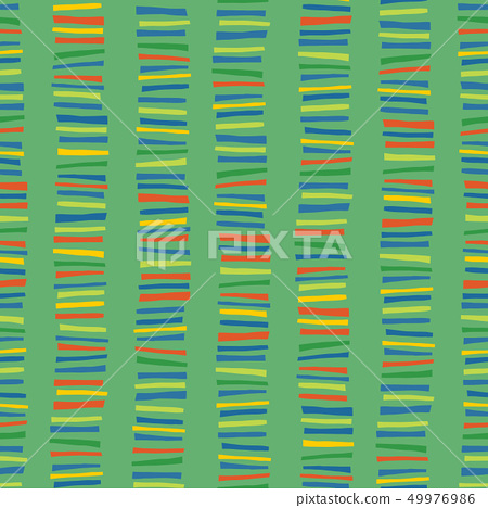 Vertical stripes seamless vector pattern. Childish abstract colorful doodle background. 49976986