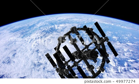 International Space Station in outer space over 49977274