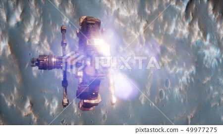 space ship near the Mars planet 49977275